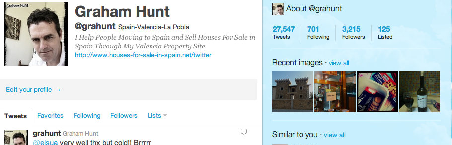 Twitter Homepage for Grahunt