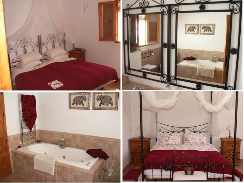 Bedrooms and Bathrooms in Iznajar Guest House For Sale