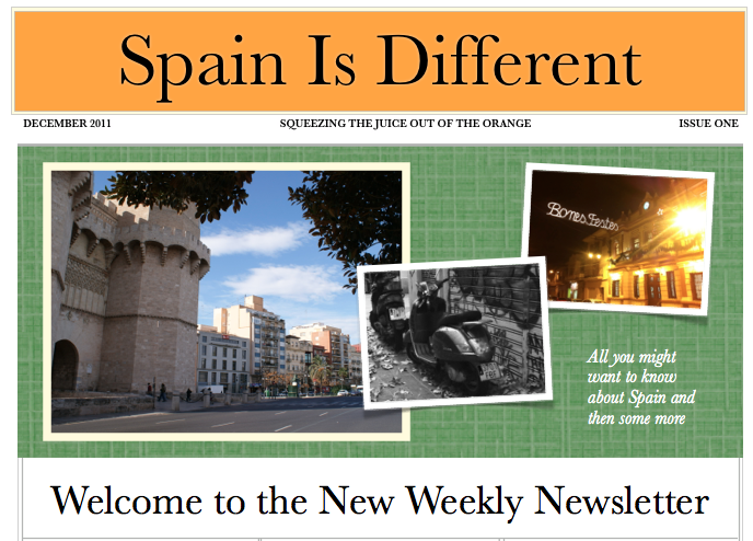 Spain Is Different Newsletter First Issue