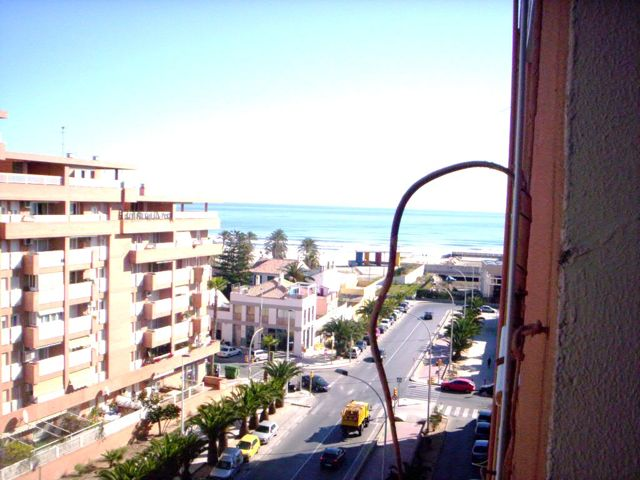 Beach Views From The Apartment By The Malvarrosa